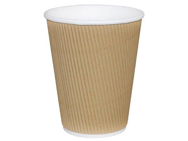 XXLselect Koffiebekers | Lichtbruin | 340ml | 25 Stuks
