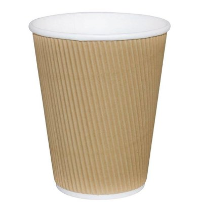 Fiesta Koffiebekers | Lichtbruin | 230ml | 25 Stuks