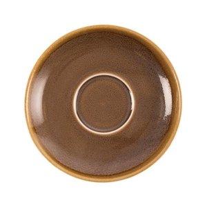 "XXLselect Cappuccino Schoteltje ""Kiln"" | Bruin Porselein | Ø160mm | Per 6 Stuks"