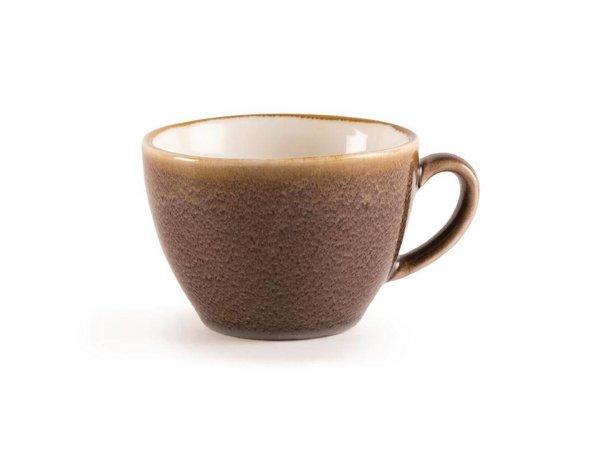 "XXLselect Cappuccinokopje ""Kiln"" | Bruin Porselein | 340ml | Per 6 Stuks"
