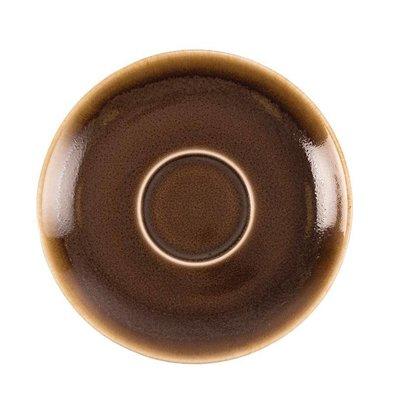"Olympia Cappuccino Schoteltje ""Kiln"" | Bruin Porselein | Ø140mm | Per 6 Stuks"