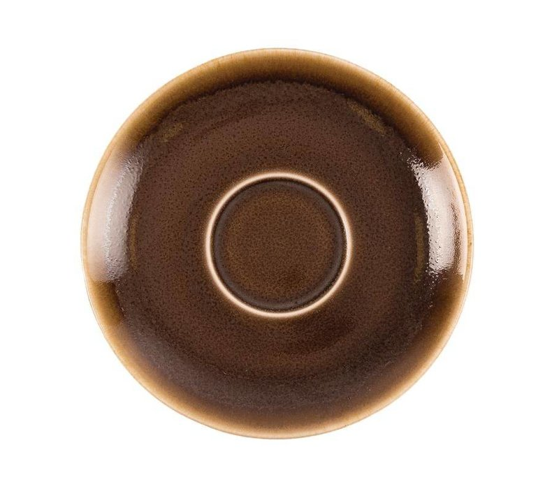 "XXLselect Cappuccino Schoteltje ""Kiln"" | Bruin Porselein | Ø140mm | Per 6 Stuks"