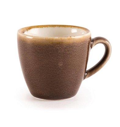 "Olympia Espressokopje ""Kiln"" |Bruin Porselein | 85ml | Per 6 Stuks"