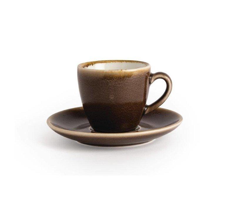"""XXLselect Espressokopje """"Kiln""""  Bruin Porselein   85ml   Per 6 Stuks"""