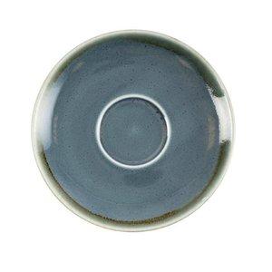 "XXLselect Cappuccino Schoteltje ""Kiln"" | Blauw Porselein | Ø160mm | Per 6 Stuks"