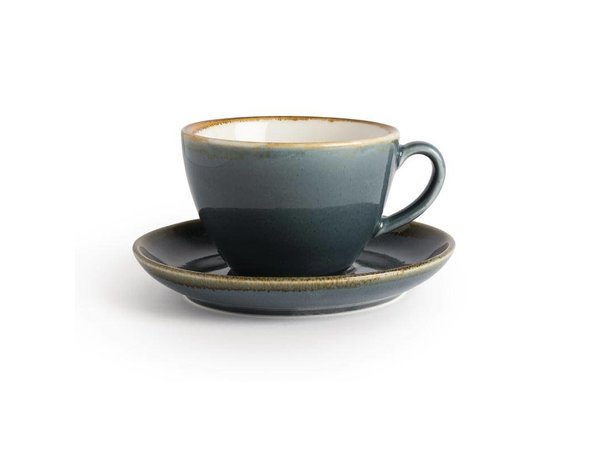 "XXLselect Cappuccino Schoteltje ""Kiln""   Blauw Porselein   Ø160mm   Per 6 Stuks"