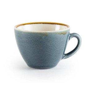"XXLselect Cappuccinokopje ""Kiln"" | Blauw Porselein | 340ml | Per 6 Stuks"