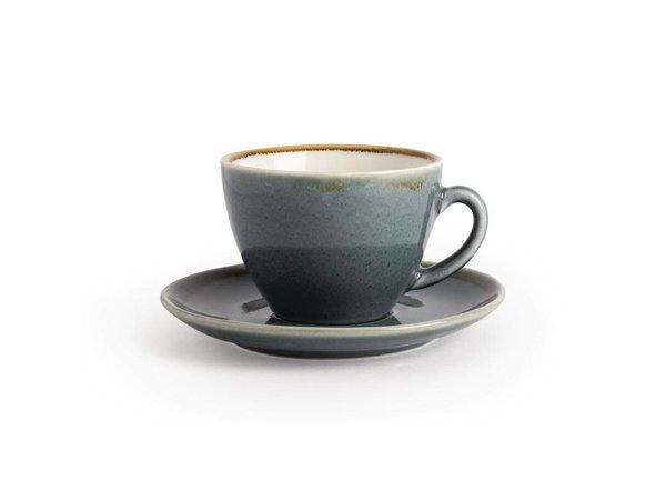 "XXLselect Cappuccino Schoteltje ""Kiln""   Blauw Porselein   Ø140mm   Per 6 Stuks"