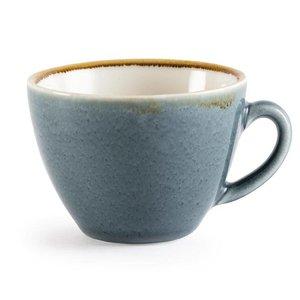 "XXLselect Cappuccinokopje ""Kiln""   Blauw Porselein   230ml   Per 6 Stuks"