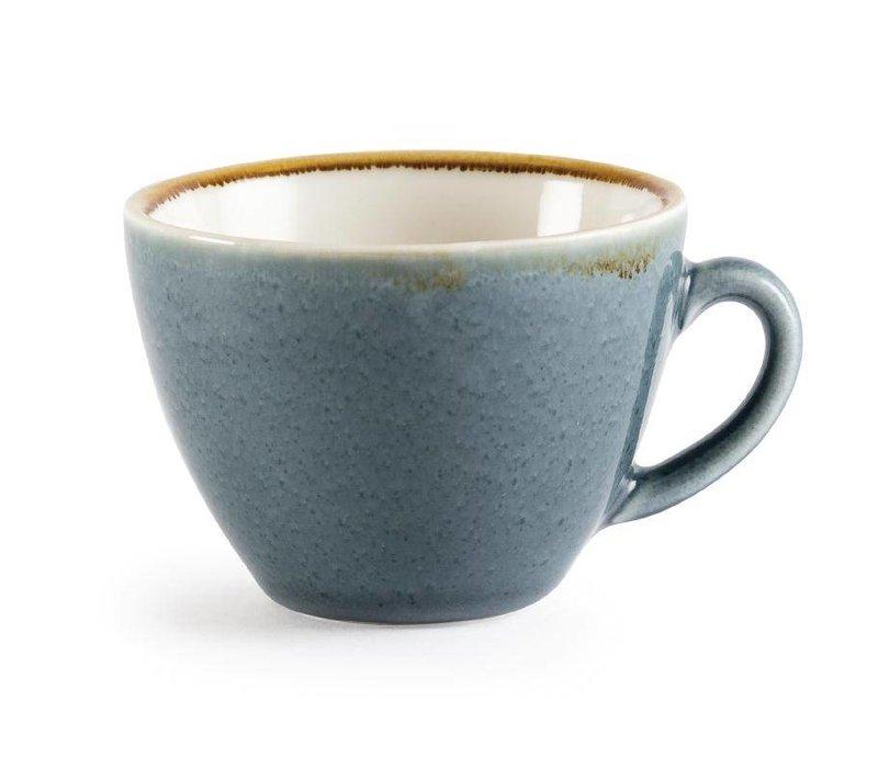 "XXLselect Cappuccinokopje ""Kiln"" | Blauw Porselein | 230ml | Per 6 Stuks"