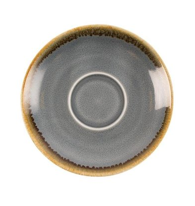 "Olympia Espresso Schoteltje ""Kiln"" | Blauw Porselein | Ø115mm | Per 6 Stuks"