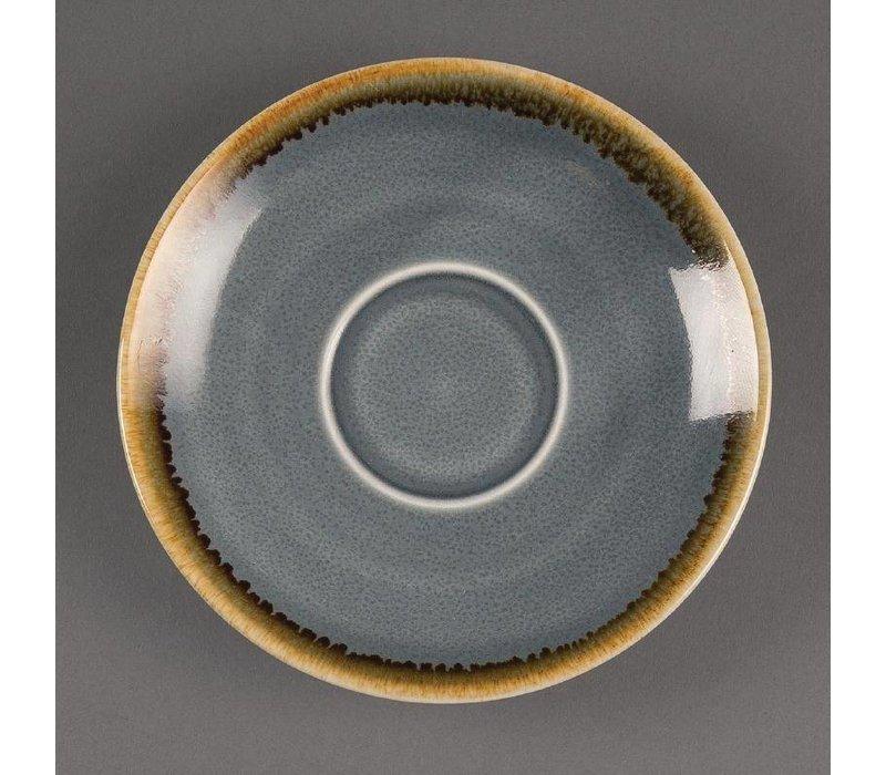 "XXLselect Espresso Schoteltje ""Kiln""   Blauw Porselein   Ø115mm   Per 6 Stuks"