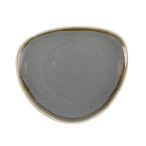 "XXLselect Driehoekig Bord ""Kiln"" | Blauw Porselein | Ø165mm | Per 6 Stuks"