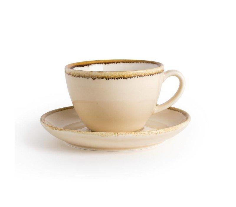 "XXLselect Cappuccino Schoteltje ""Kiln"" | Zandsteen Porselein | Ø160mm | Per 6 Stuks"