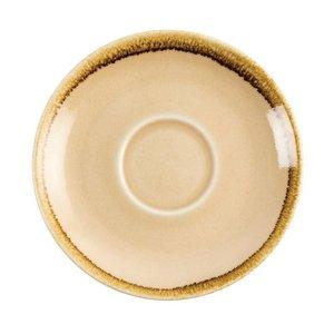"XXLselect Cappuccino Schoteltje ""Kiln"" | Zandsteen Porselein | Ø140mm | Per 6 Stuks"