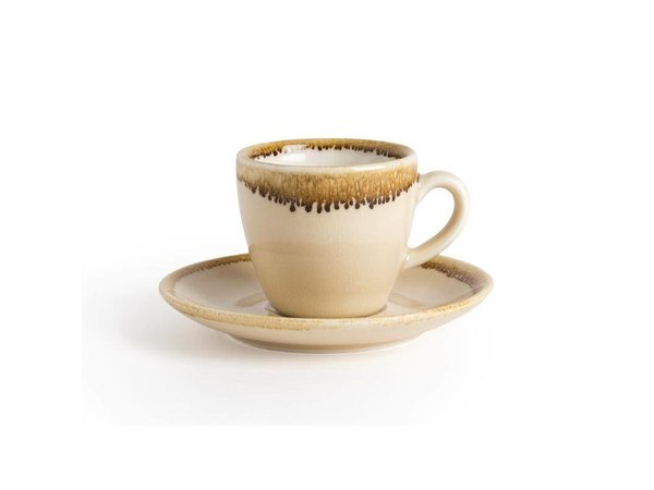 "XXLselect Espresso Schoteltje ""Kiln"" | Zandsteen Porselein | Ø115mm | Per 6 Stuks"