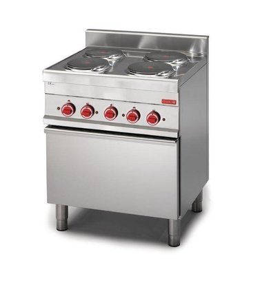 XXLselect Fornuis 4 Kookplaten + Oven | 14,4kW/400V | 650x700x850(h)mm