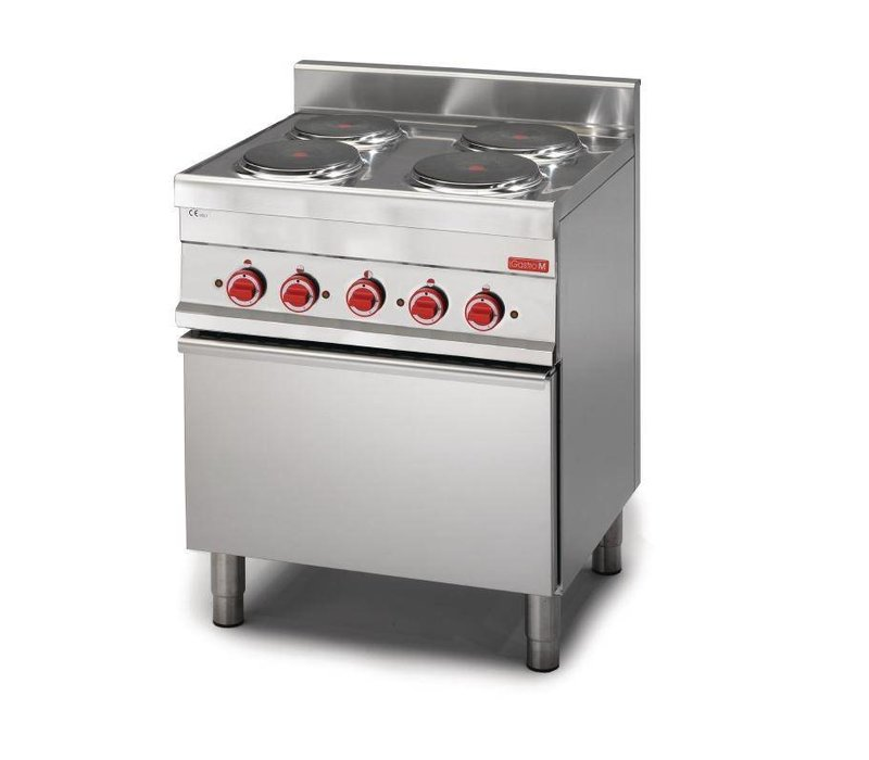 XXLselect Cooking stove 4 + Oven | 14,4kW / 400V | 650x700x850 (h) mm