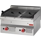 XXLselect Lavasteengrill Gas | RVS | Lekbak | 11kW | 600x600x280(h)mm
