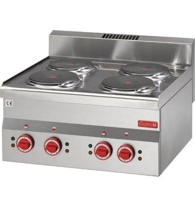 XXLselect Electric stove | 4x Ø220mm | 6kW / 400V | 600x600x280 (h) mm