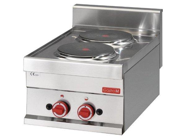 XXLselect Kookplaat Elektrisch   2x Ø220mm   3kW/400V   300x600x280(h)mm