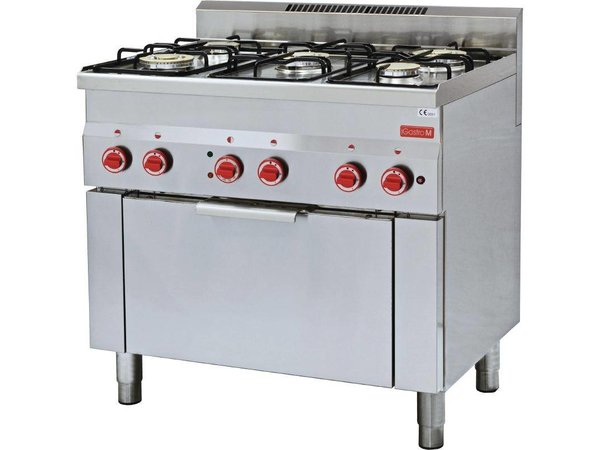 XXLselect Stove 5 Pits + Convection oven GN1 / 1   17,4kW / 230V   600x900x850 (h) mm