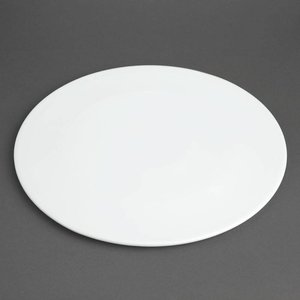 XXLselect Pizzabord Ø330mm | Wit Porselein| Per 6 Stuks