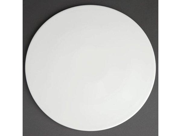 XXLselect Pizzabord Ø330mm | Wit Porselein| Per 6 Stuks