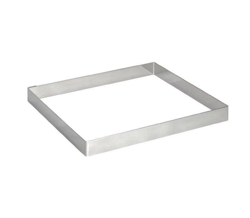 XXLselect Taartvorm Vierkant RVS | 80x80x20(h)mm