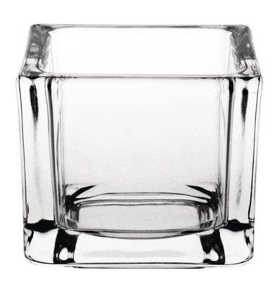 Olympia Theelichthouder Vierkant   Glas   60x60x50(h)mm   Verpakt per 6