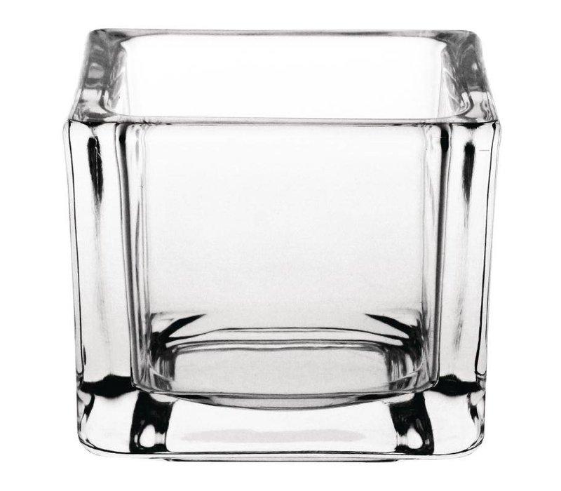 XXLselect Theelichthouder Vierkant   Glas   60x60x50(h)mm   Verpakt per 6