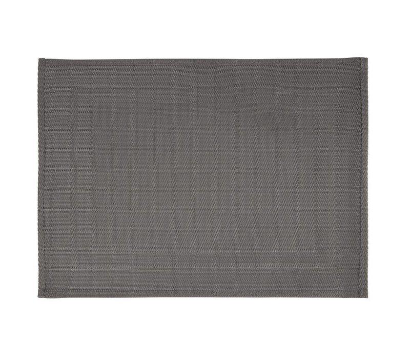 XXLselect Placemat met Grijze Rand | PVC | 450x330mm | Verpakt per 6
