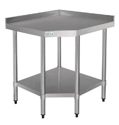 Vogue Edelstahl Corner Table + Unter Extras | 700x800x900 (h) mm