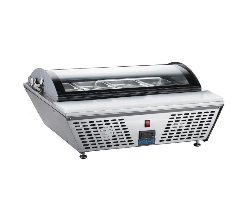XXLselect Chilled Prepareercounter + Cutting Board | 67 Liter | 4x1 / 3GN or 8x GN 1/6 | 230 | 612x767x328 (h) mm