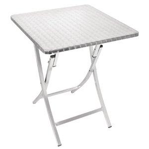 XXLselect Bistro table Folding Square | aluminum | 600x600x720 (h) mm