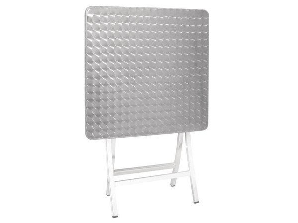 XXLselect Bistrotisch Folding Square | Aluminium | 600x600x720 (h) mm