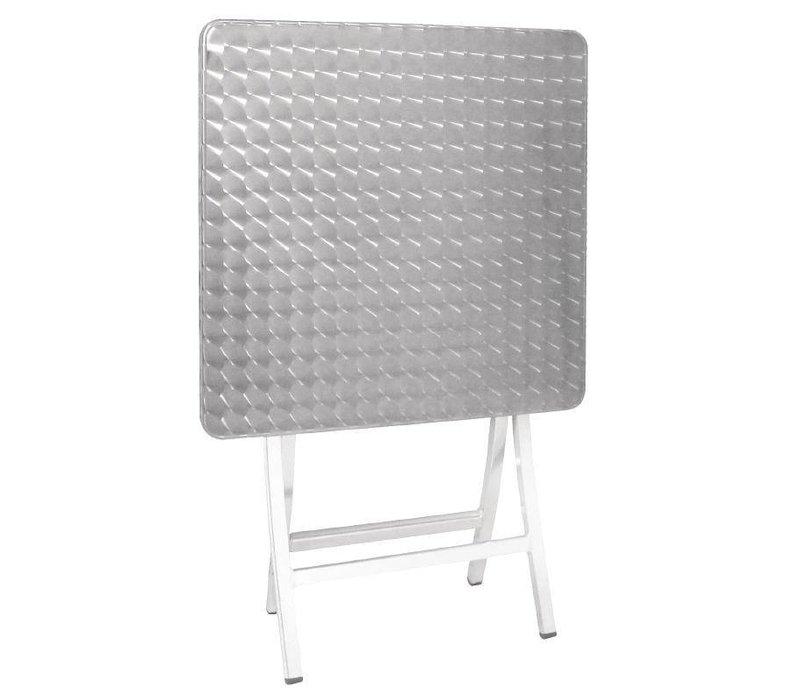 XXLselect Bistrotafel Opklapbaar Vierkant | Aluminium | 600x600x720(h)mm