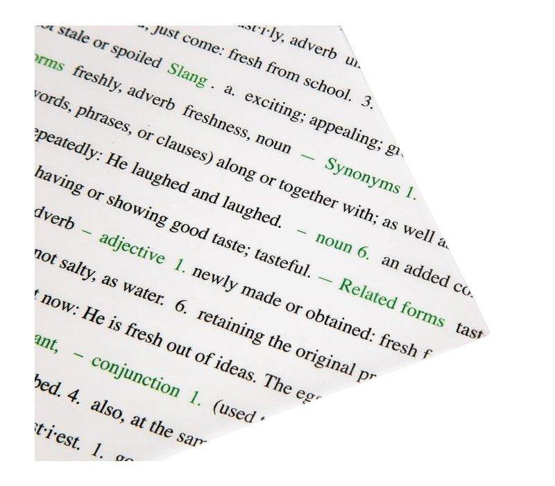 XXLselect Vetvrij Papier | Met Tekst | 255x203mm | Per 500 Stuks