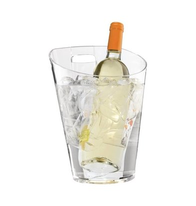 XXLselect Bottle cooler with Tafelhouder | acrylic | 750ml | Ø190x256 (h) mm