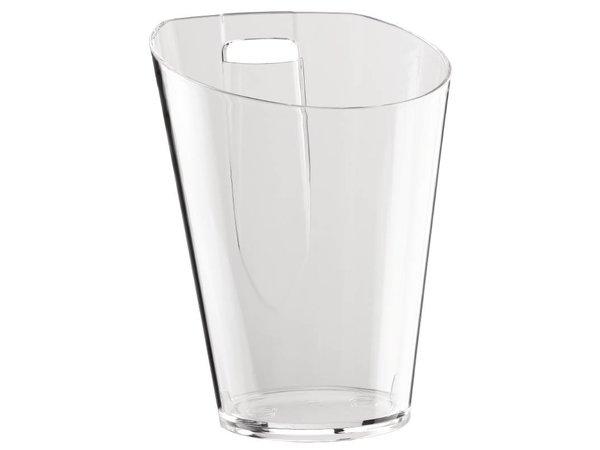 XXLselect Flaschenkühler mit Tafelhouder | Acryl | 750ml | Ø190x256 (h) mm