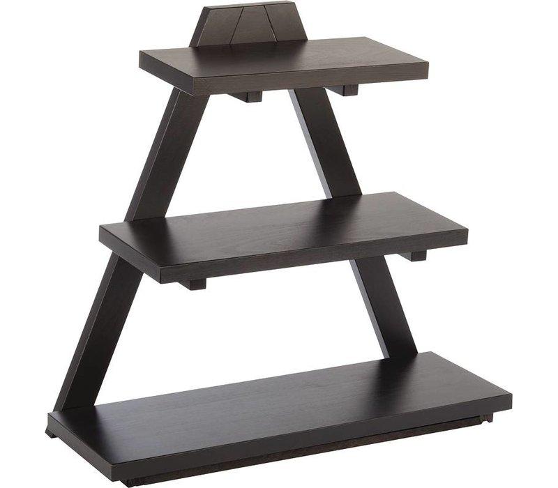 XXLselect Driehoekige Buffetstandaard Zwart |hout | 530x210x500(h)mm