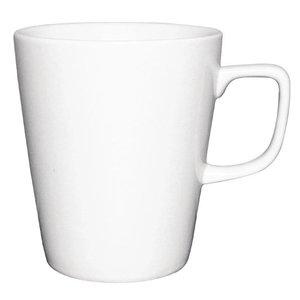 XXLselect Athena Latte Mok | 397ml | Wit Porselein | Verpakt per 12
