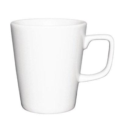 XXLselect Athena Latte Mok | 285ml | Wit Porselein | Verpakt per 12
