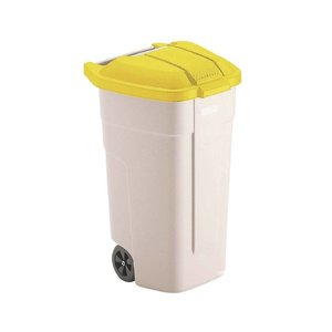 XXLselect Rolcontainer Rubbermaid | Gele DekseL | 100 Liter | 530x510x850(h)mm