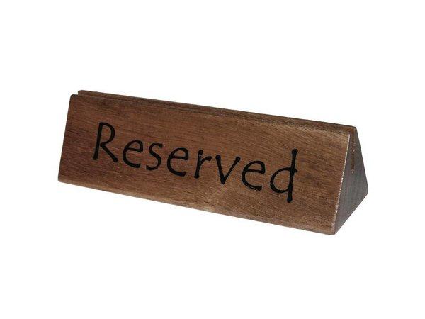 XXLselect Houten Reserveerbordje | Inkeping voor A4 Menukaart