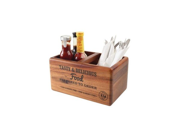 XXLselect Tafelorganizer + Krijtbord | T&G Woodware | 270x170x140(h)mm