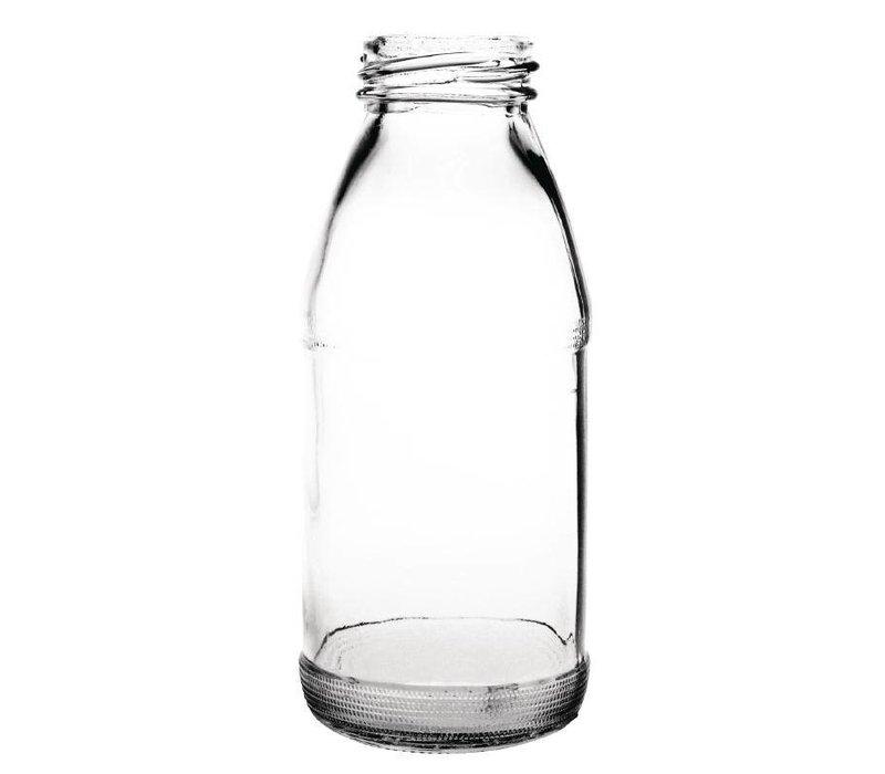 XXLselect Glasmilchflasche 200ml | Verpackt pro 12