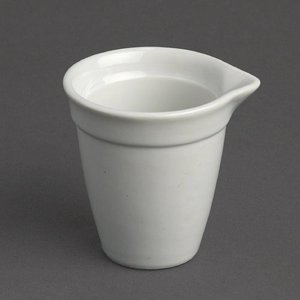 XXLselect Melkkannetje - 420ml - Wit Porselein - Verpakt per 12