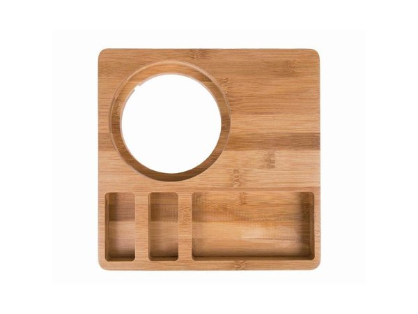XXLselect Welcome Tray Bamboo | Commitment to Kettle | 260x260x30 (h) mm