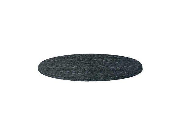 XXLselect Werzalit antraciet tafelblad, rond 70cm